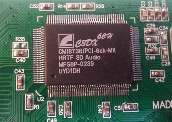 کارت صدا اینترنال PCI با چیپ CMI8738