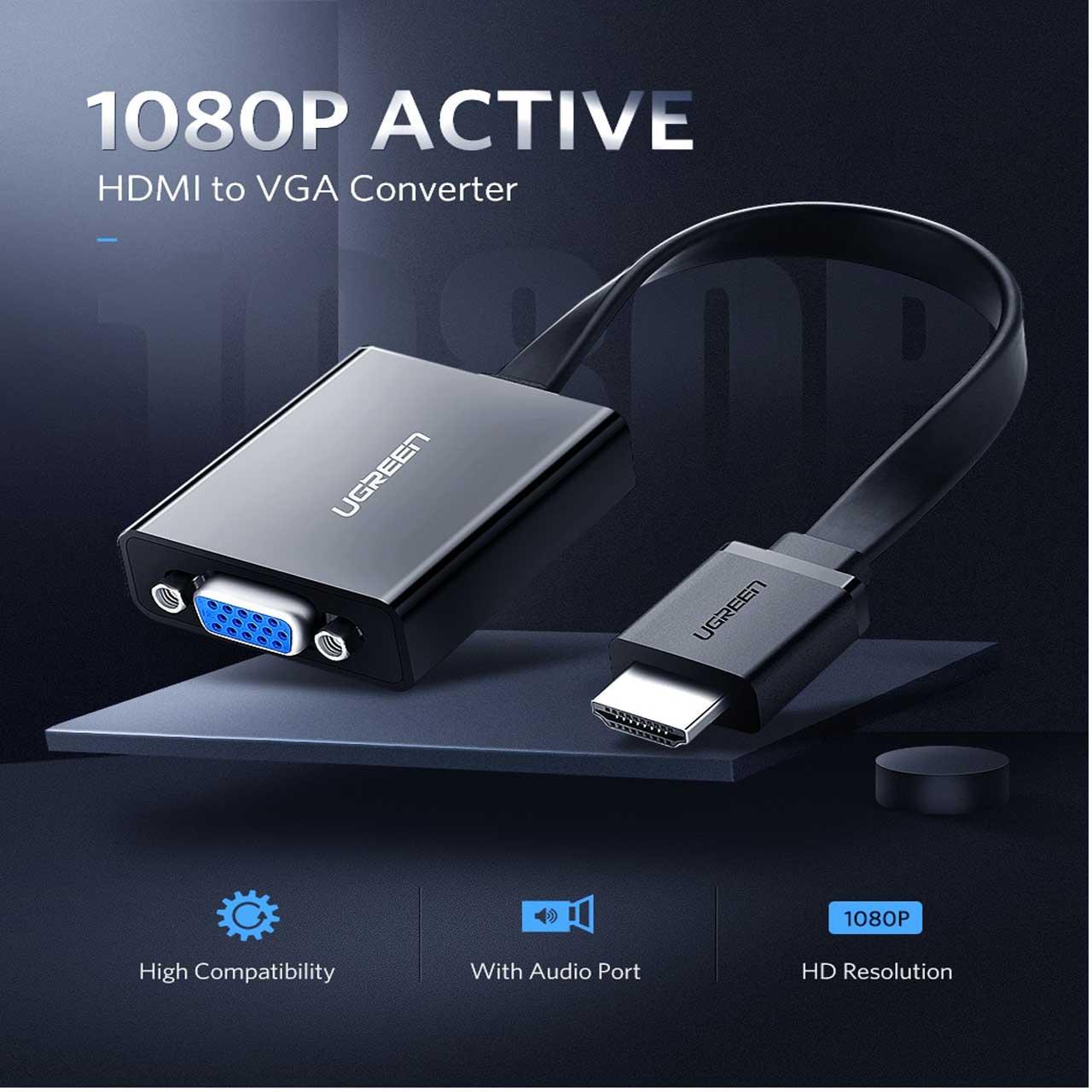 تبدیل HDMI به VGA حرفه ای برند UGREEN