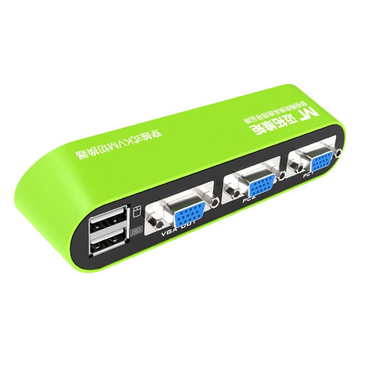 KVM USB اتوماتیک 2 پورت برند MT-VIKI مدل MT-KVM01