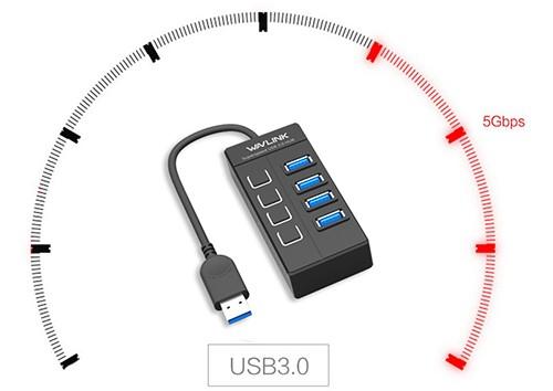 هاب USB 3.0 ویولینک مدل WL-UH30414