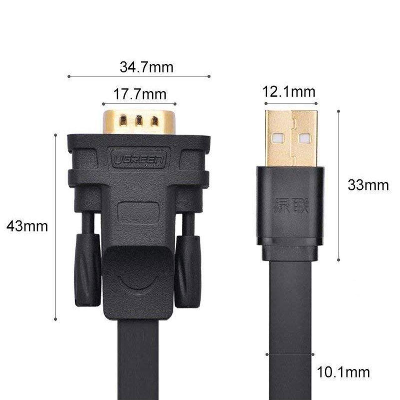 تبدیل USB به سریال UGREEN مدل CR107