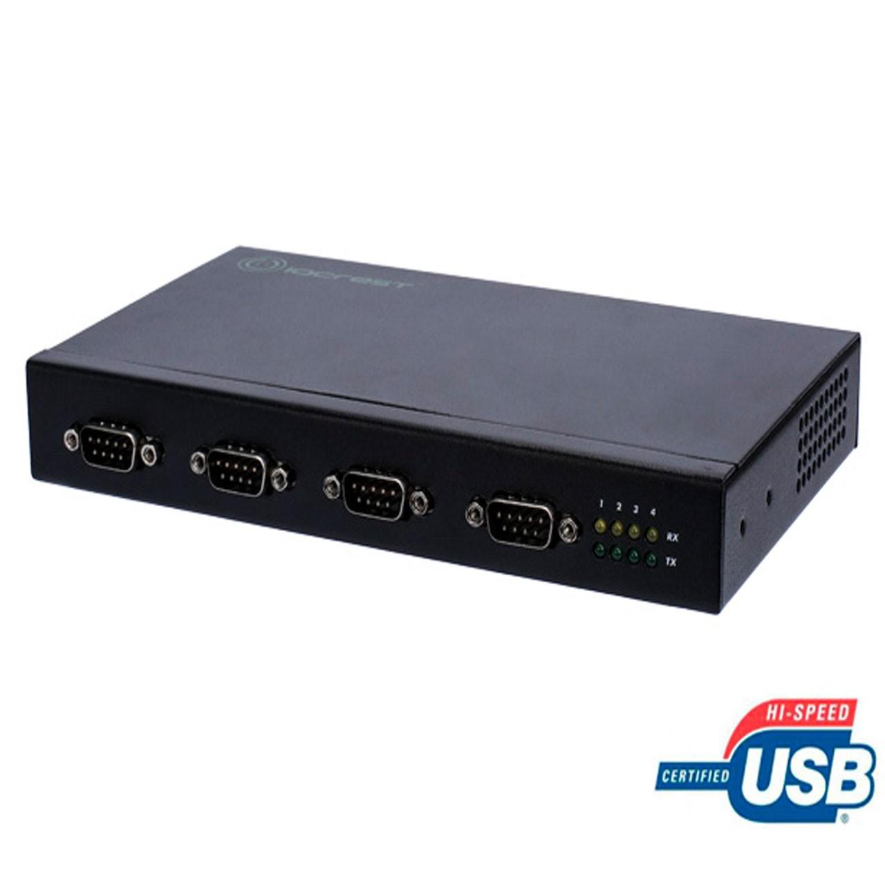 مبدل صنعتی USB به سریال 4 پورت IOCREST مدل IO-U24232C-4S