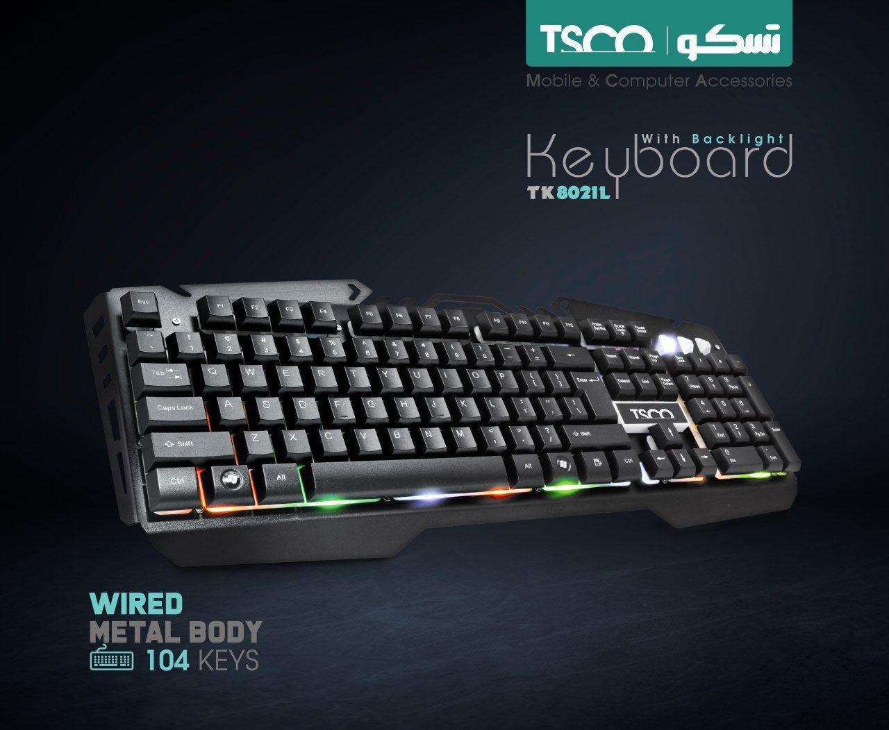 کیبورد برند TSCO مدل TK8021