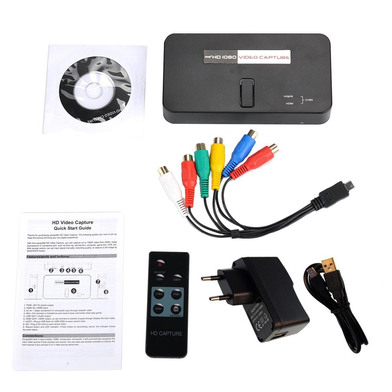 کارت کپچر حرفه ای EZCAP 284 با ورودی HDMI و ورودی کامپوننت و AV