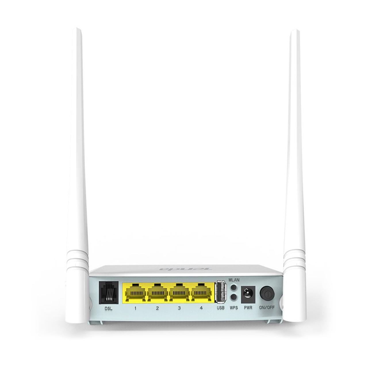 مودم روتر ADSL2 Plus بی سیم N300 برند Tenda مدل D301 V2