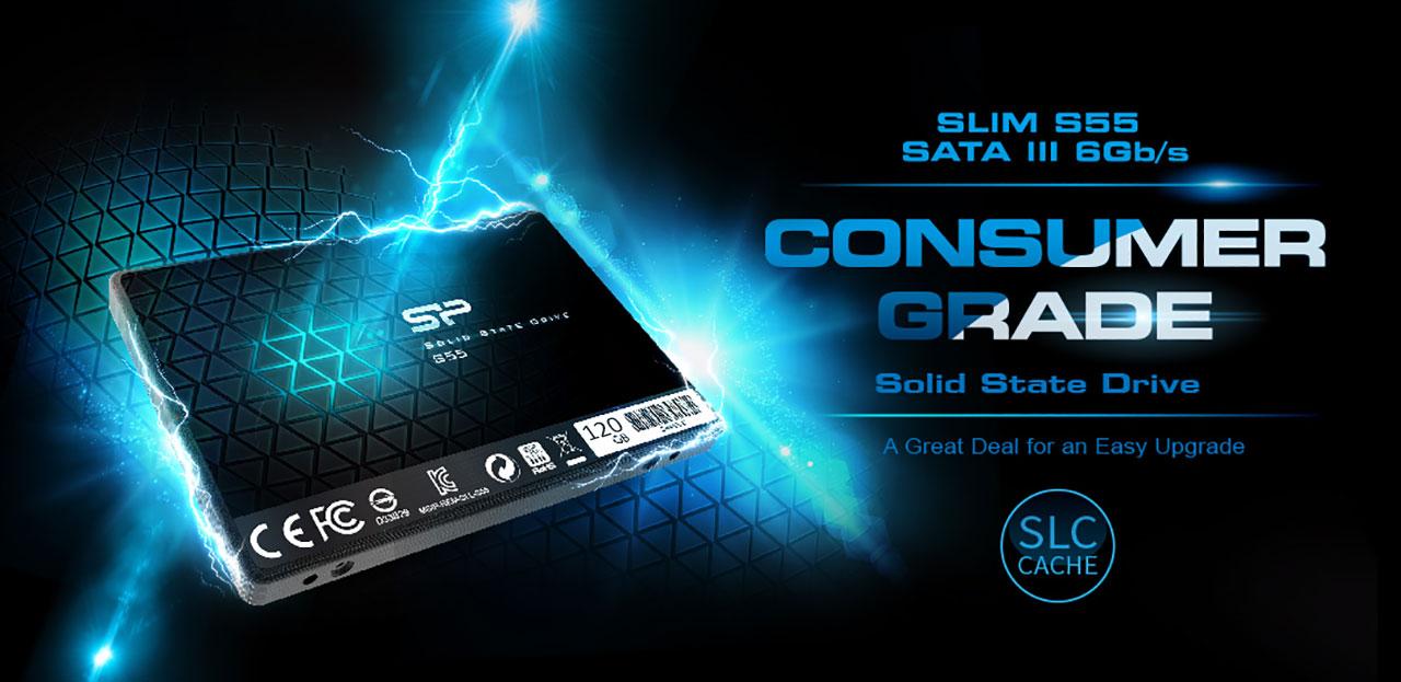 Silicon Power S55 120GB SATA III SSD
