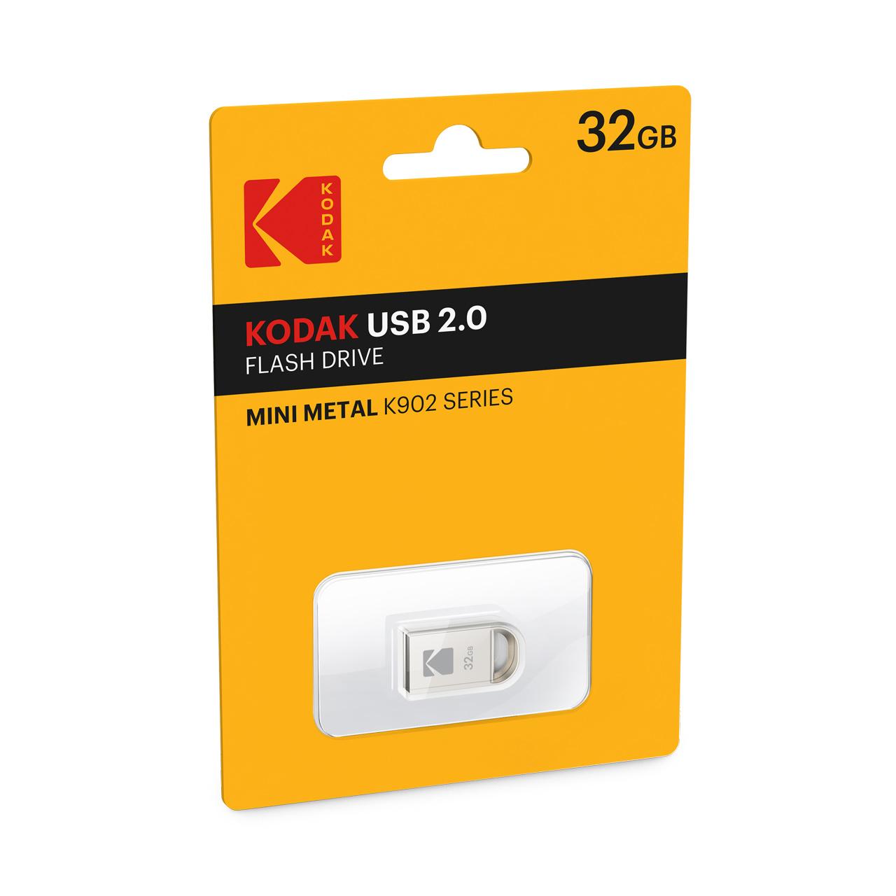 فلش مینی متال کداک مدل K902 با ظرفیت 32 گیگابایت