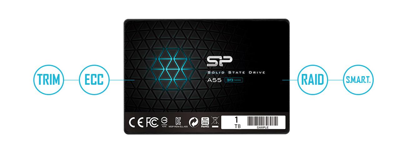 حافظه اس اس دی سیلیکون پاور مدل A55 با ظرفیت یک ترابایت