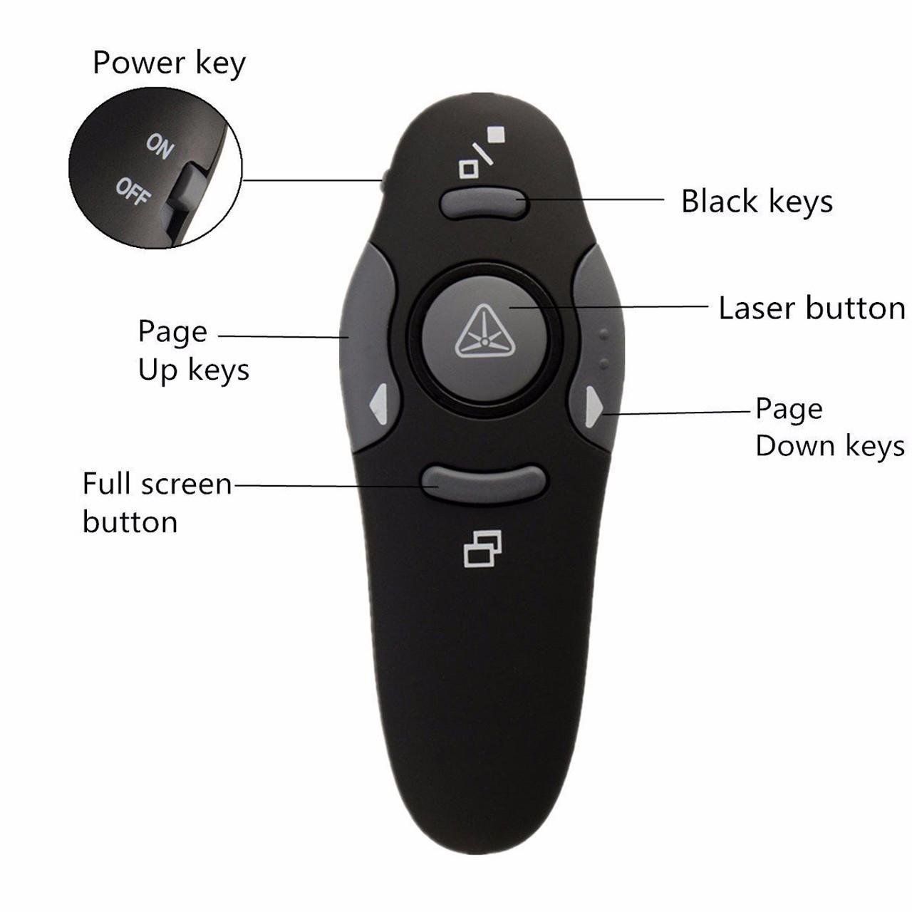 پرزنتر 5 کلید به همراه Laser Pointer