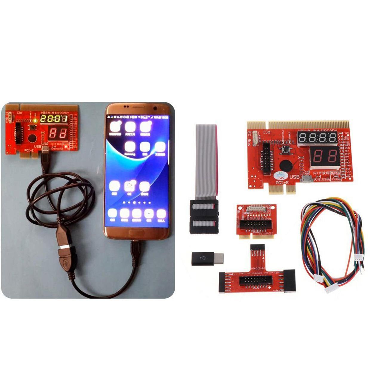 عیب یاب مادربرد لپ تاپ و PC و گوشی اندروید مدل KQCPET6-V6.0 از نوع Type-B