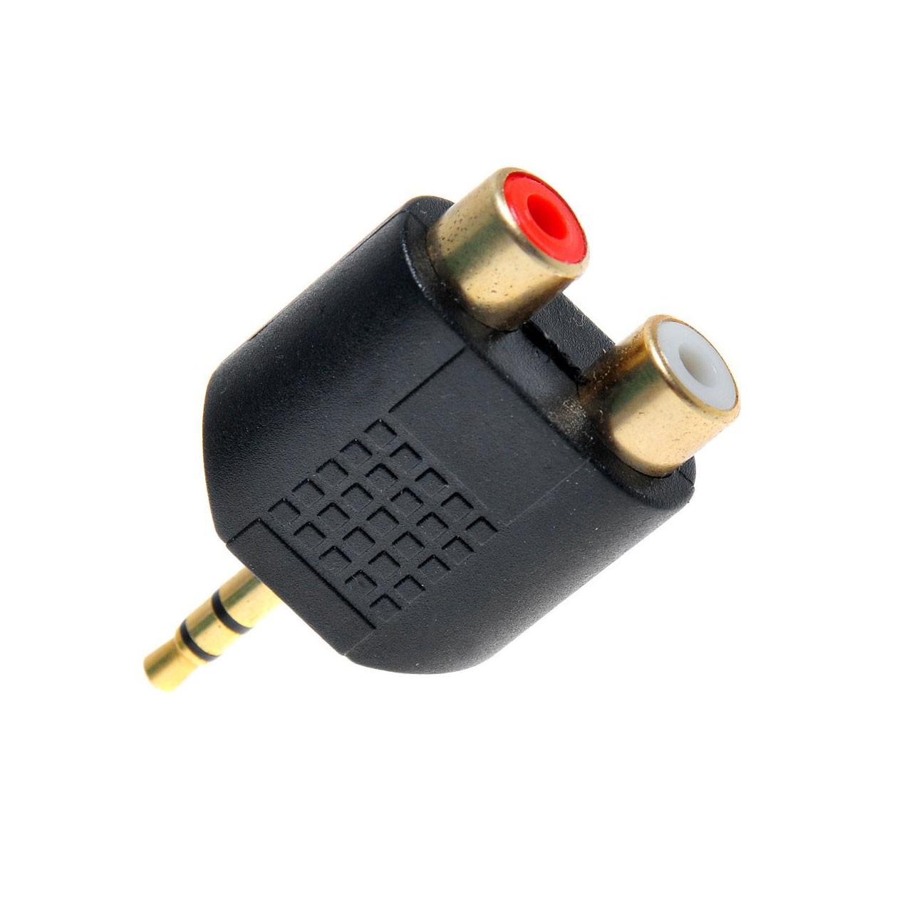 تبدیل 2 تا مادگی RCA به جک 3.5 میلی متری صدا
