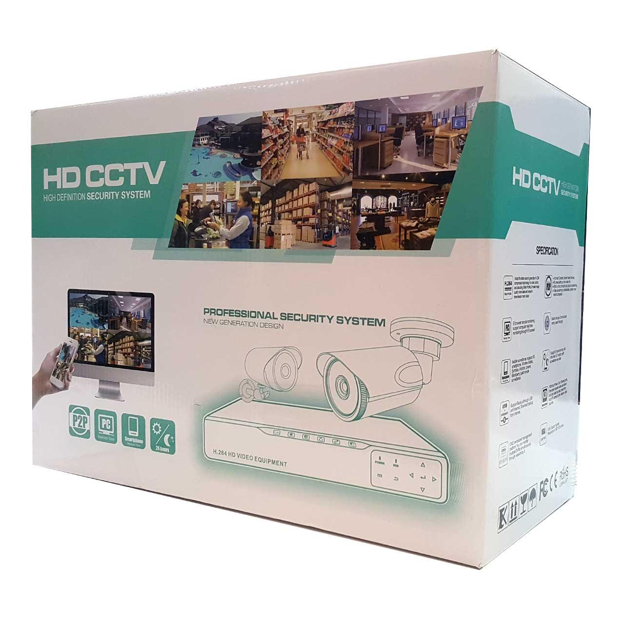 پکیج 4 عدد دوربین تحت شبکه بی سیم و NVR برند Access