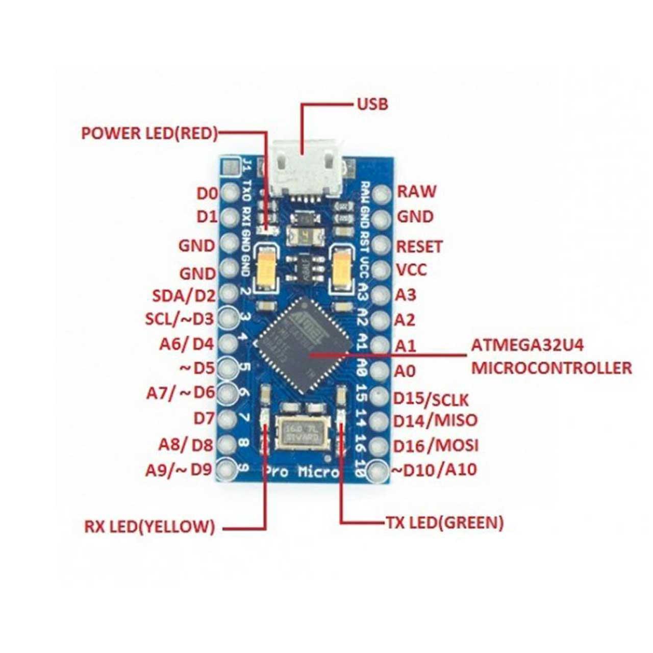 برد Arduino مدل Pro Micro