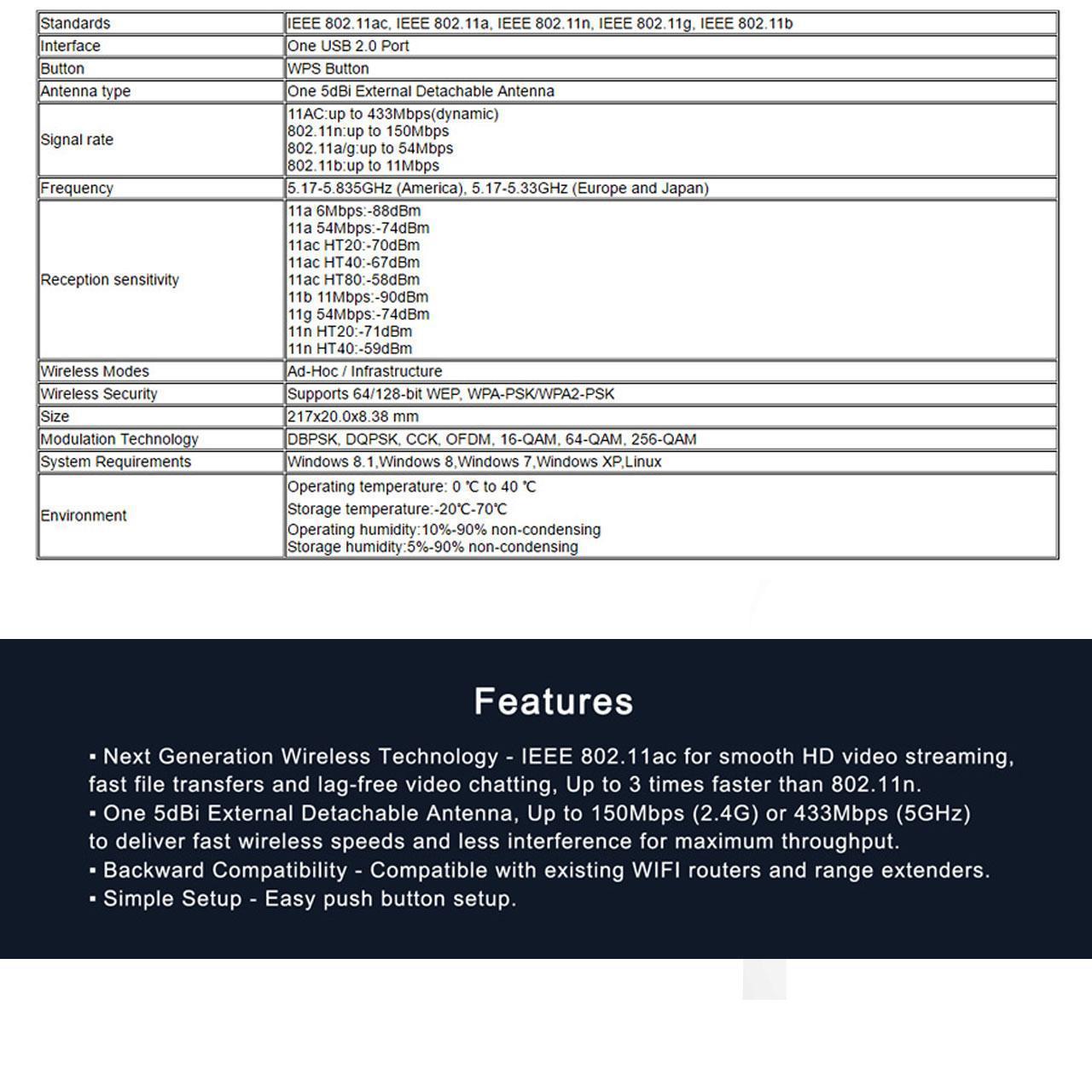کارت شبکه اکسترنال وایرلس USB آنتن دار LB-LINK 600Mbps BL-WN600