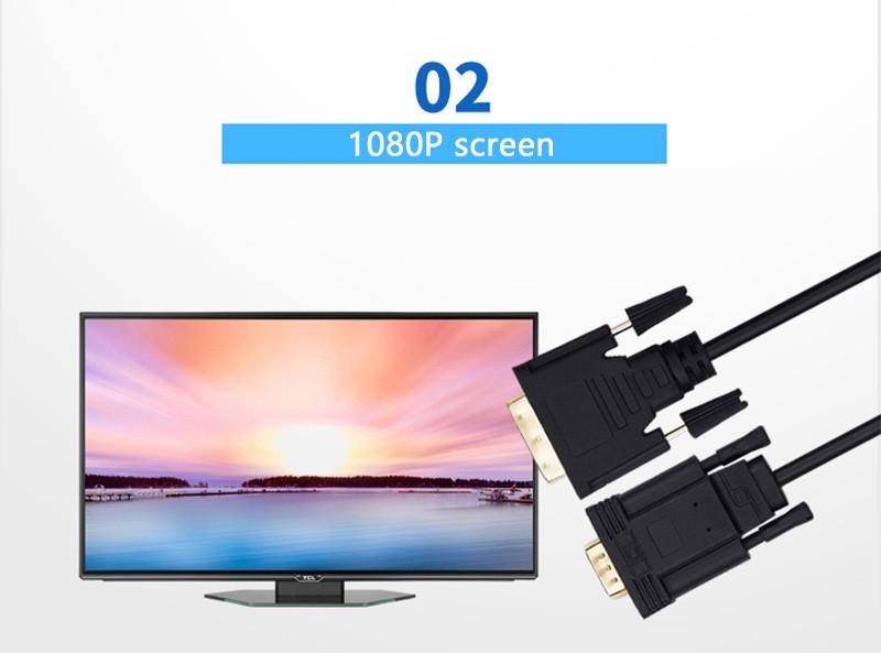 تبدیل DVI-D به VGA اکتیو کابل دار