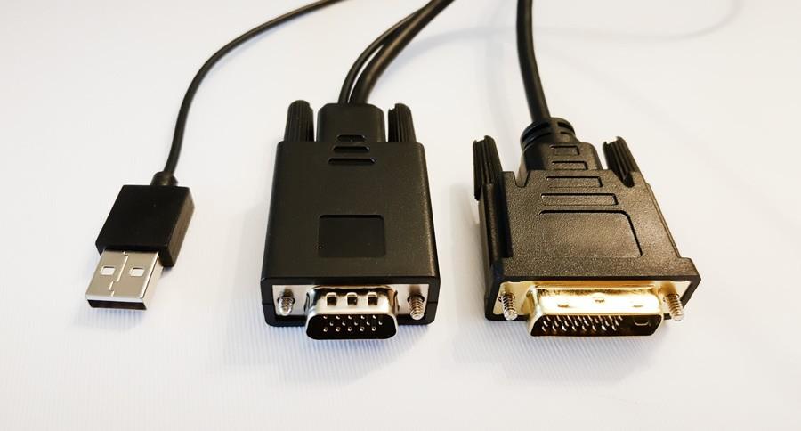 کابل تبدیل VGA + USB به DVI