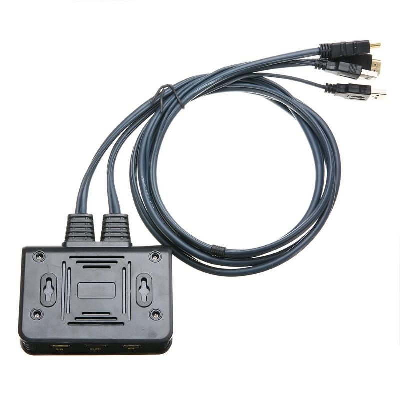KVM HDMI اتوماتیک 2 پورت