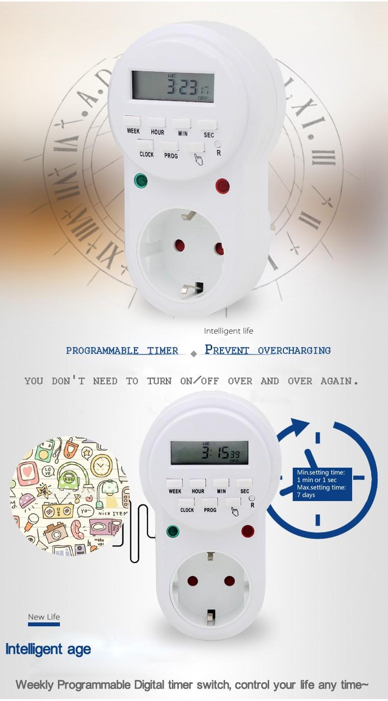 پریز برق هوشمند با تایمر دیجیتال مدل ETG-63A