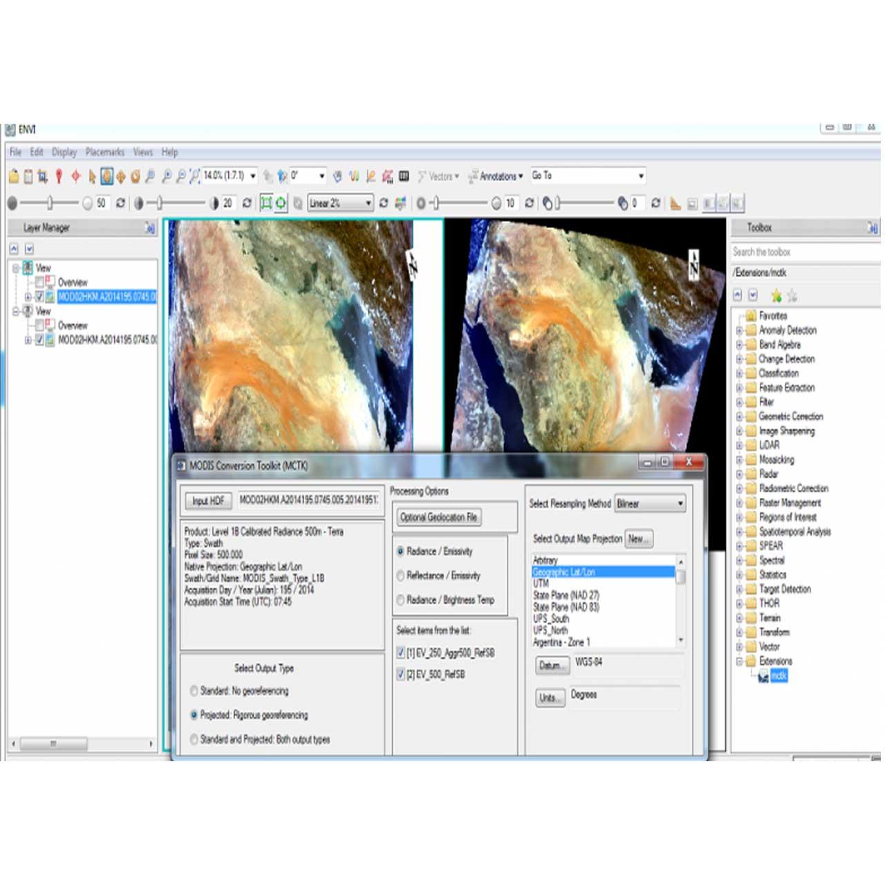 نرم افزار مهندسی Envi
