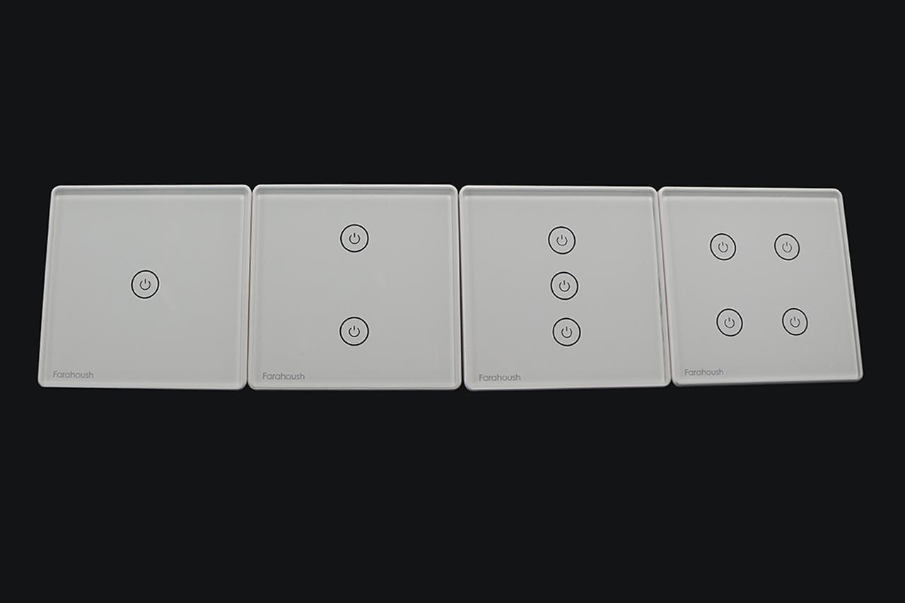 کلید لمسی سفید برند Farahoush