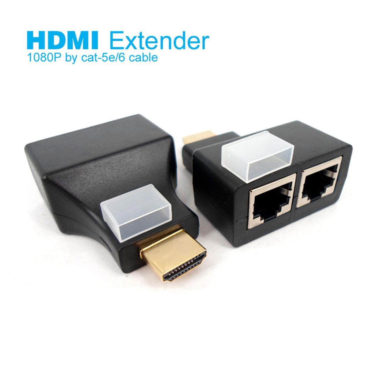 افزایش طول 30 متری HDMI با 2 رشته کابل شبکه