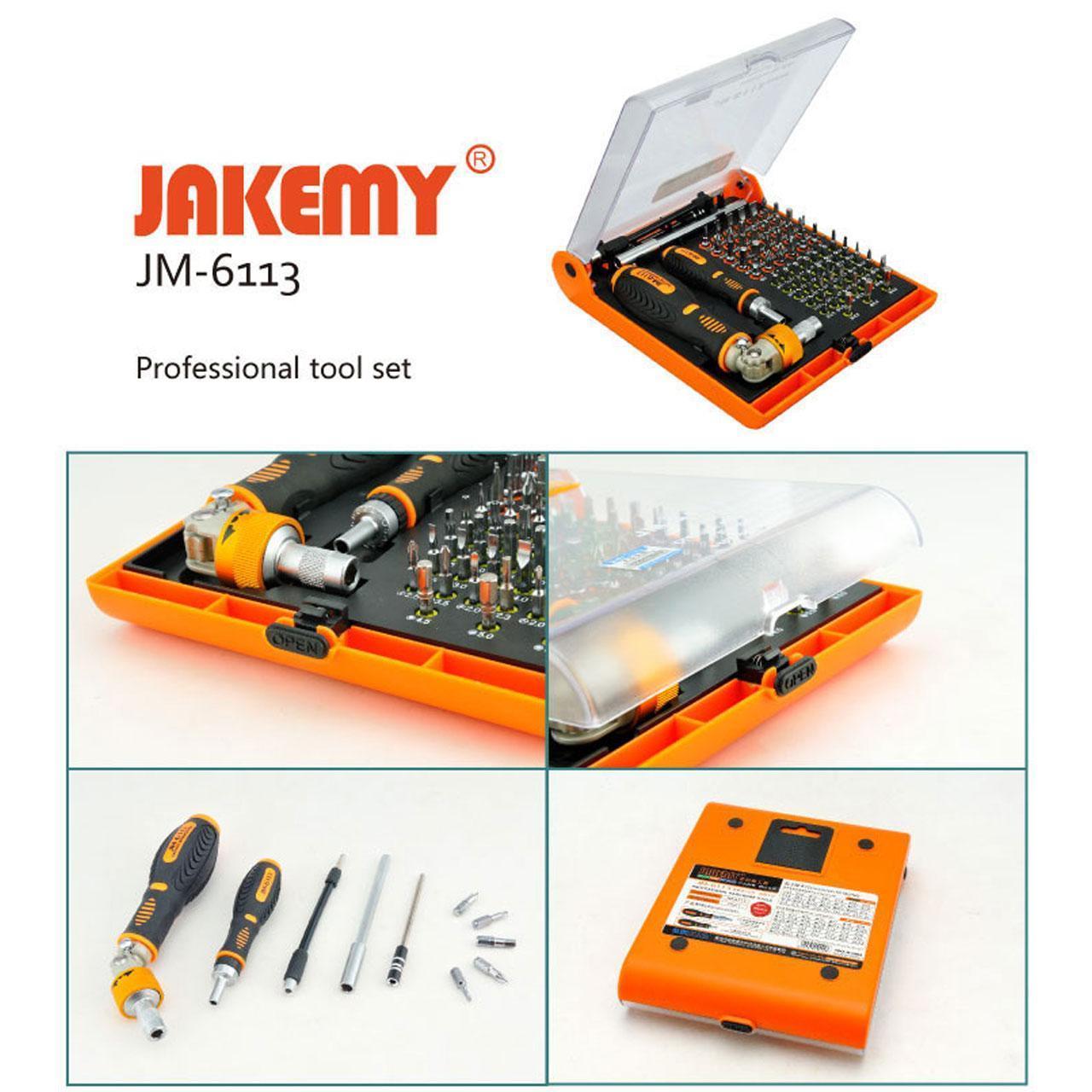 ست پیچ گوشتی JK-6113 ابزار تعمیر موبایل ، لپ تاپ و هارد