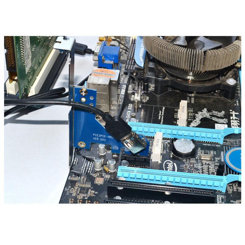 تبدیل PCIe 1X به 2 پورت PCI