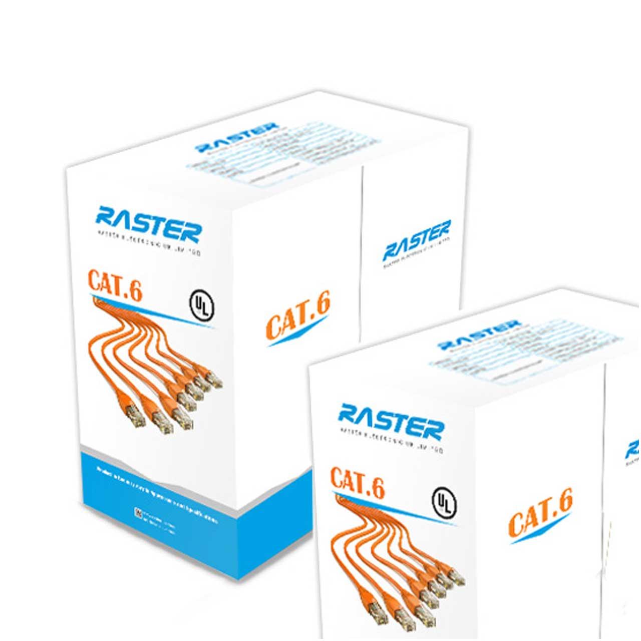 کابل شبکه Cat 6 UTP رستر Raster حلقه ای