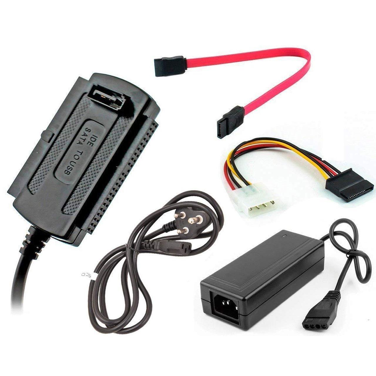 تبدیل USB به SATA و IDE به همراه آداپتور