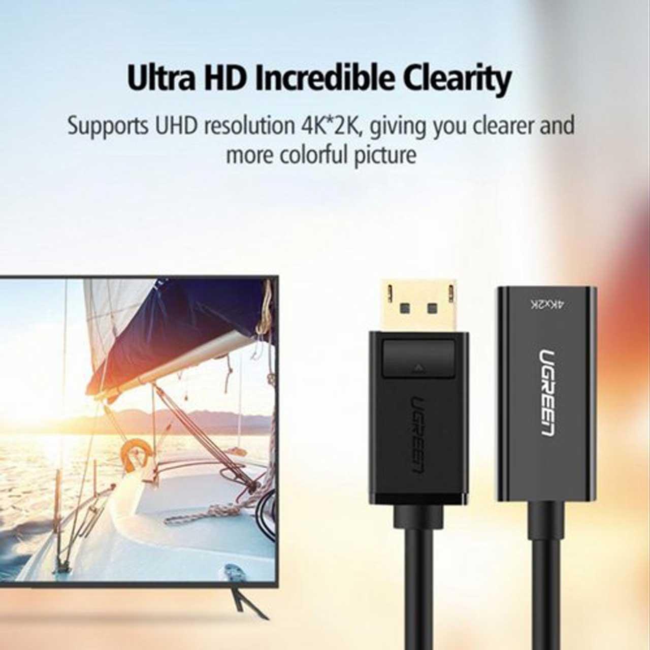 تبدیل Display Port به HDMI برند Ugreen MM137