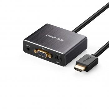 مبدل HDMI به VGA به همراه خروجی AUX + Optical UGREEN
