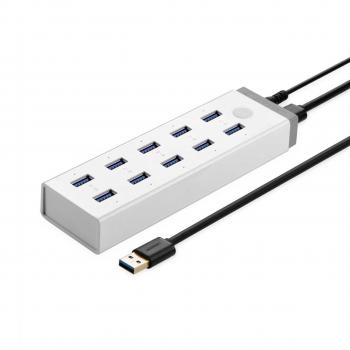 هاب 10 پورت USB3.0 Ugreen مدل CR117
