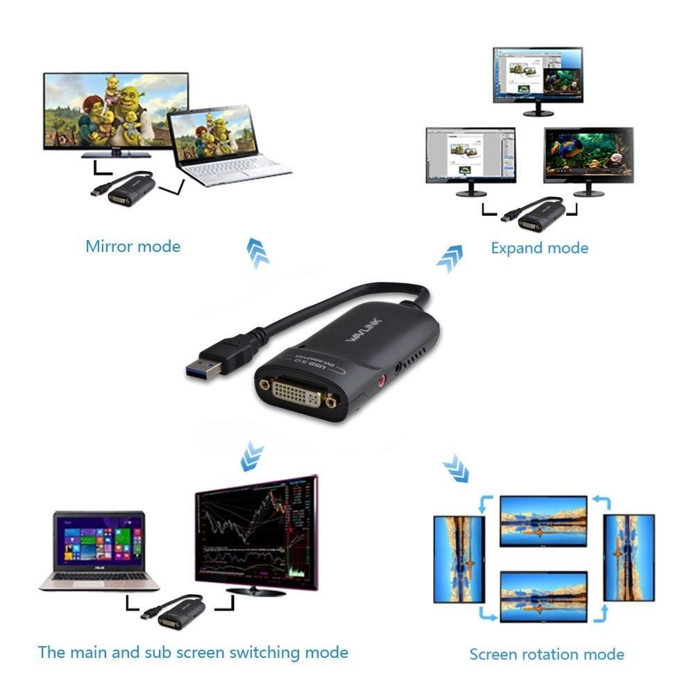 تبدیل USB 3.0 به DVI ویولینک مدل WL-UG3501D