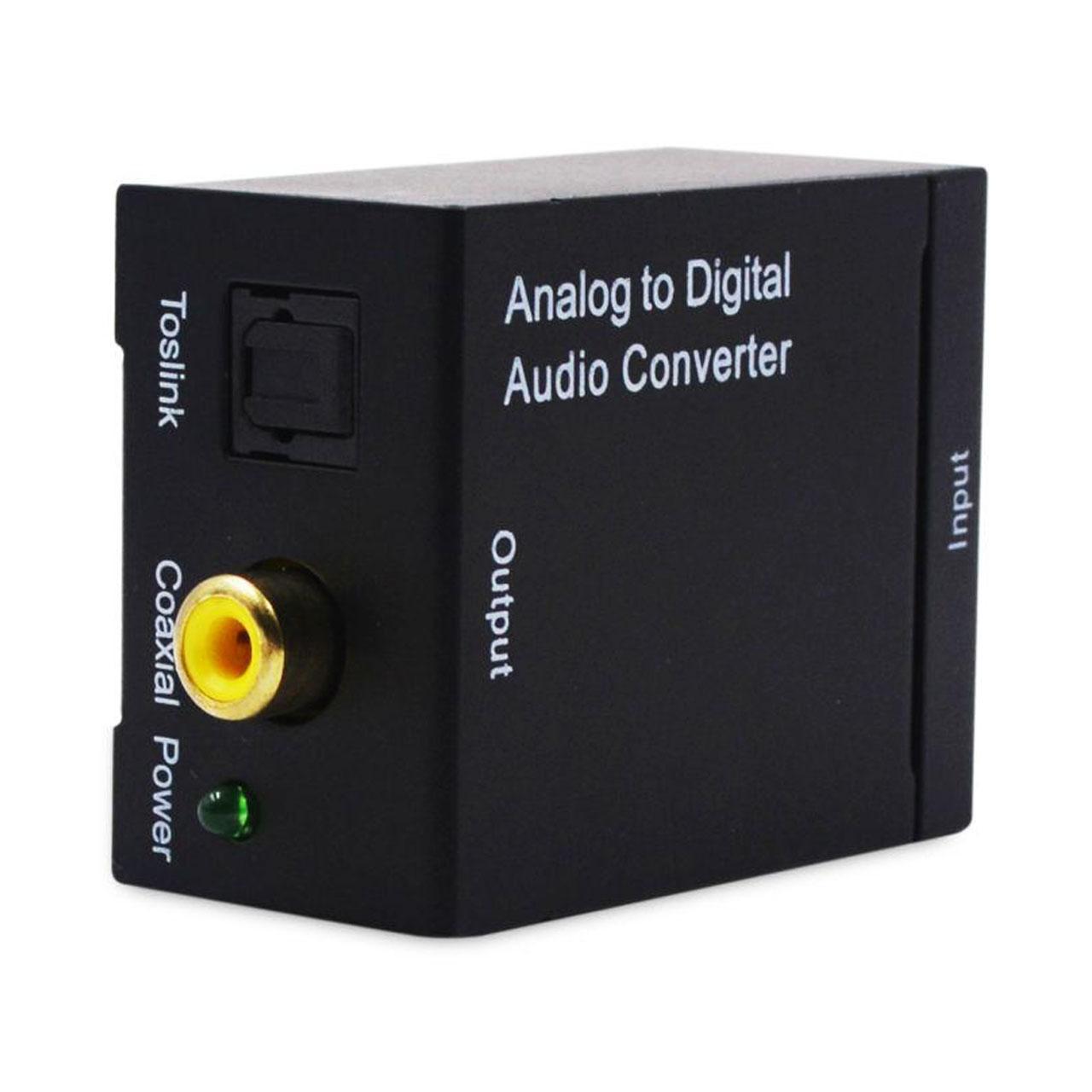 مبدل صدای آنالوگ RCA به دیجیتال Optical و Coaxial